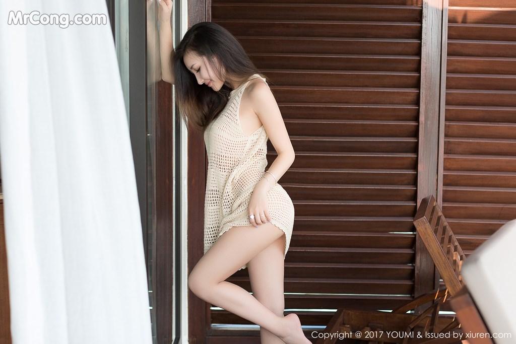 Image YouMi-Vol.100-Yumi-MrCong.com-005 in post YouMi Vol.100: Người mẫu Yumi (尤美) (42 ảnh)