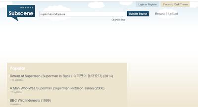Kumpulan Situs Download Subtitle Film Indonesia Gratis