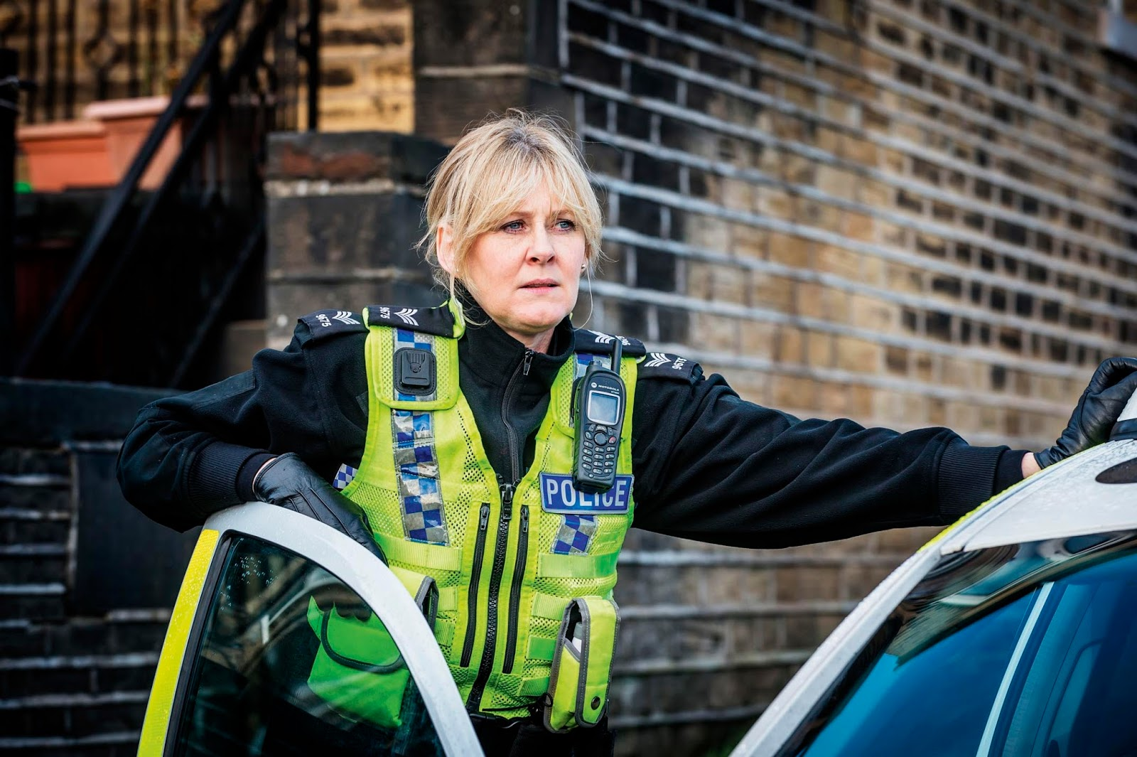 Sarah Lancashire en un fotograma de Happy Valley