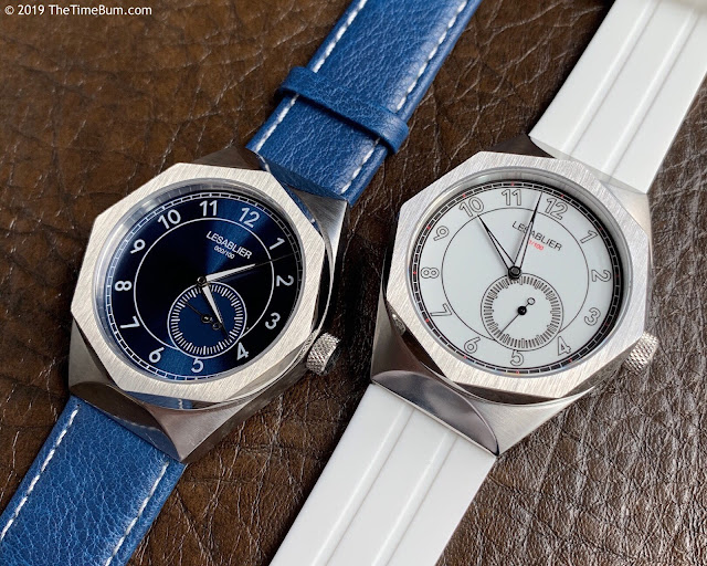 Lesablier Sport Classic Blue Sunburst and Ivory White Enamel