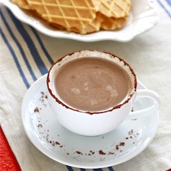 mayan aztec mexican hot cocoa with cayenne chili pepper and spices