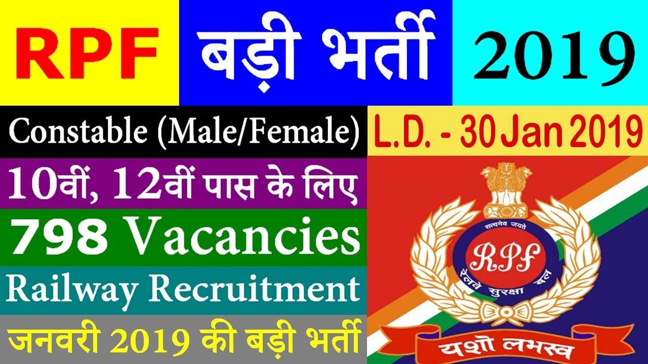 RPF Recruitment 2019