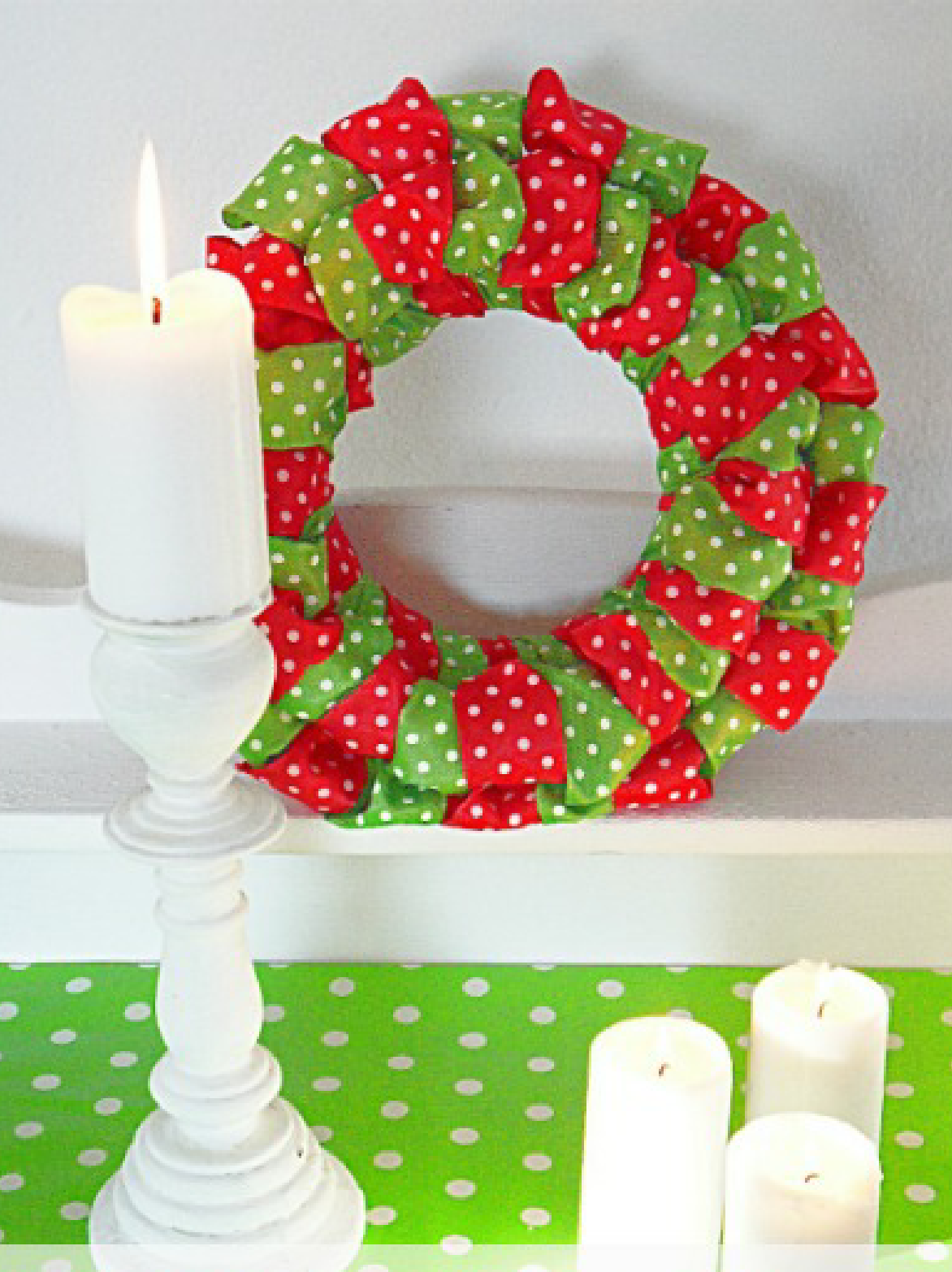 DIY Ribbon Christmas Wreath