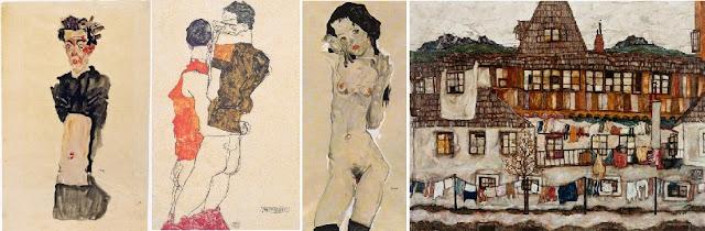 pinturas y dibujos de egon schiele