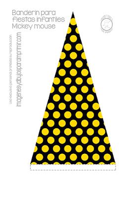 banderines de mickey mouse para imprimir gratis