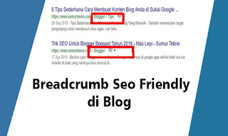 cara buat breadcrumb seo friendly di blogspot