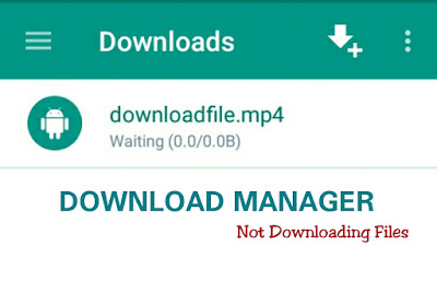 Download Manager Not Download Anything On Android