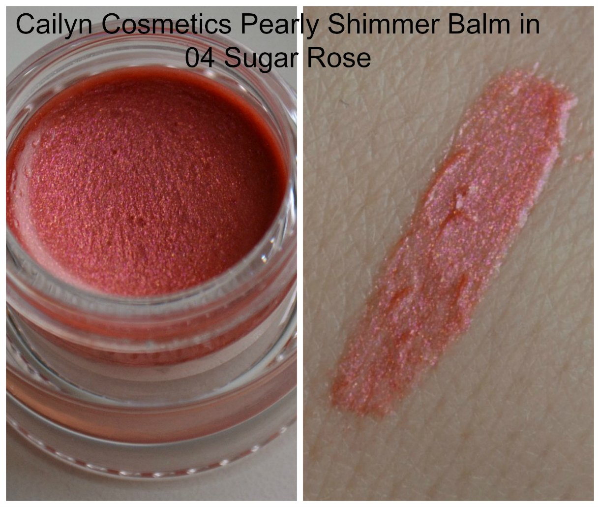 Cailyn Cosmetics Pearly Shimmer Balm in 04 Sugar Rose swatch
