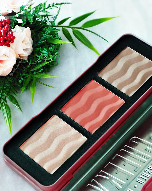 W7 The Cheeky Trio bronzer blush highlighter review swatch