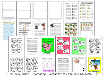 pig a pancake worksheets