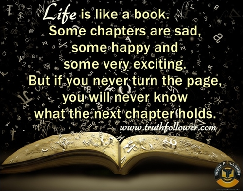 Quotes About Chapters Of Life. QuotesGram