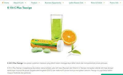 Produk  K-Link  K-Vit C Plus Teavigo