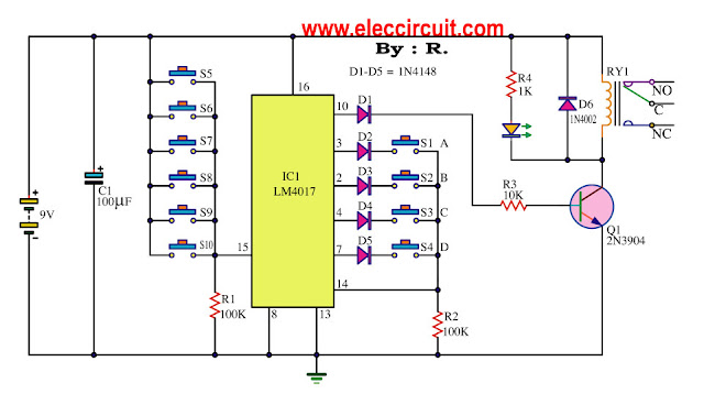 key-code-lock-switch-circuit