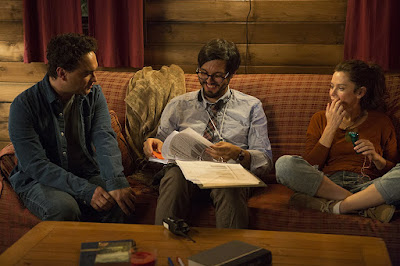 Anna Friel, Johnny Galecki and Bobby Miller on the set of The Cleanse