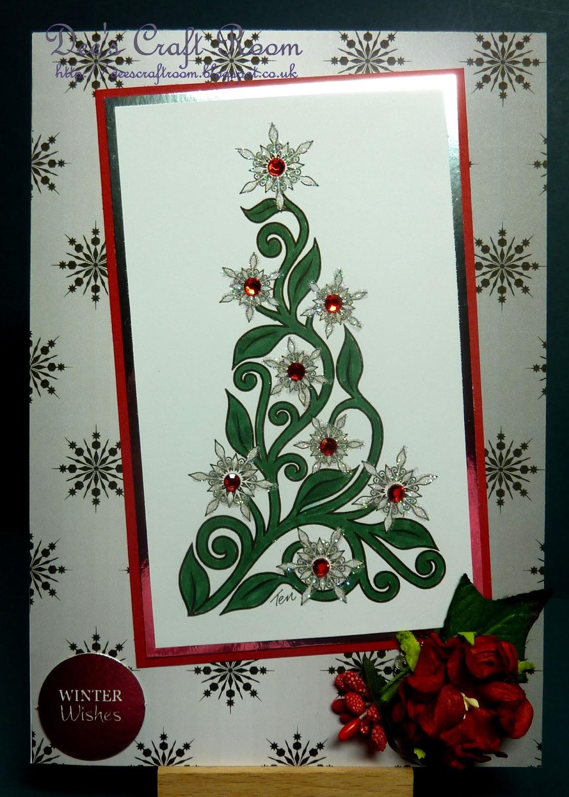 Dee's Craft Room: Elegant Christmas Tree