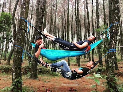 foto hammock di top selfie
