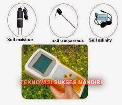 Alat ukur suhu, moisture dan salinity tanah