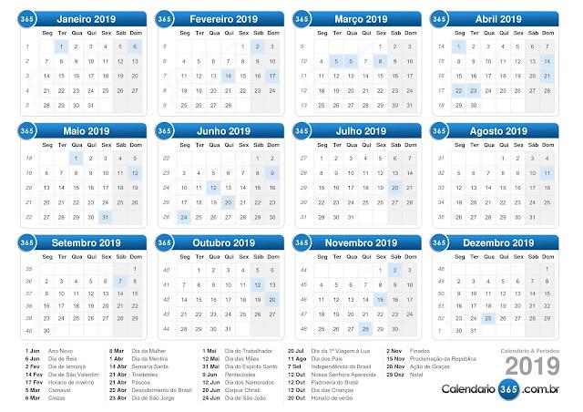Calendario 365.Arquima Calendarios Feriados E Outros Servicos