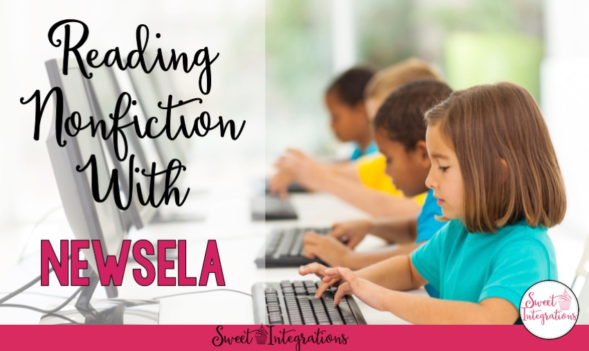Reading Nonfiction with NewsELA - children typing at computers