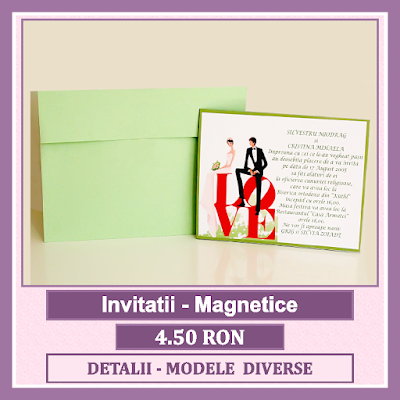 http://www.bebestudio11.com/2017/01/invitatii-nunta-magnet.html
