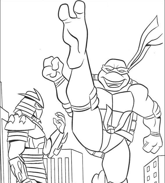 Halloween Coloring Pages Ninja Turtles Free Coloring