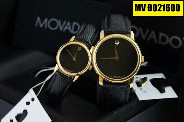 Đồng hồ cặp đôi dây da MV Đ021600