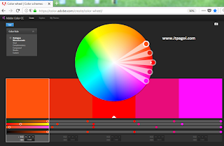 Create color schemes with the color wheel