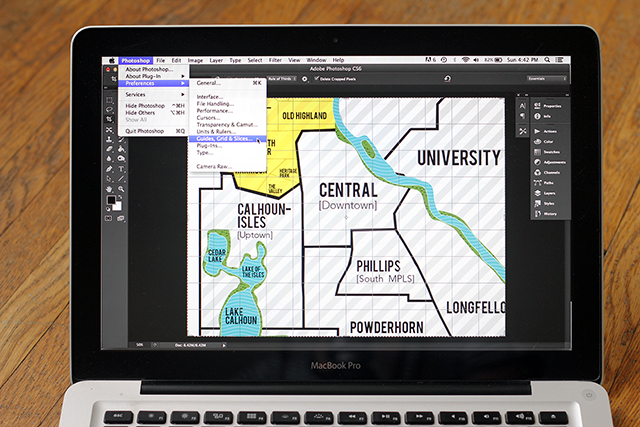 Photoshop makes grid drawing a piece of cake!