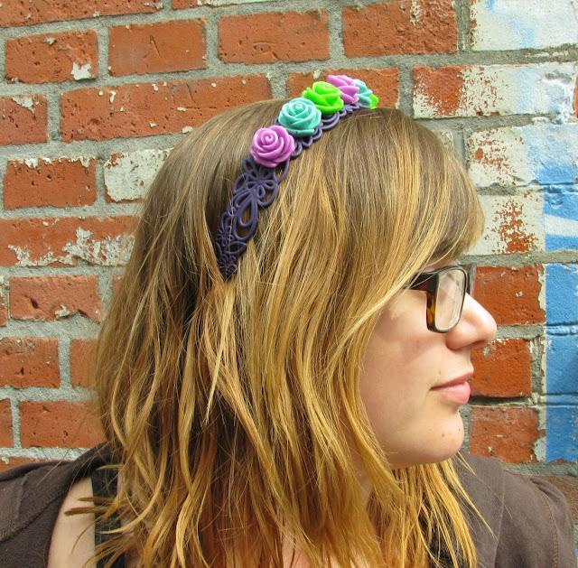 Haarband met rozen tutorial