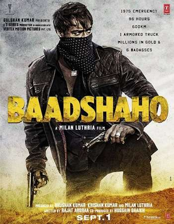 Poster of movie Baadshaho 2017 Hindi 190MB Pre-DVDRip HEVC