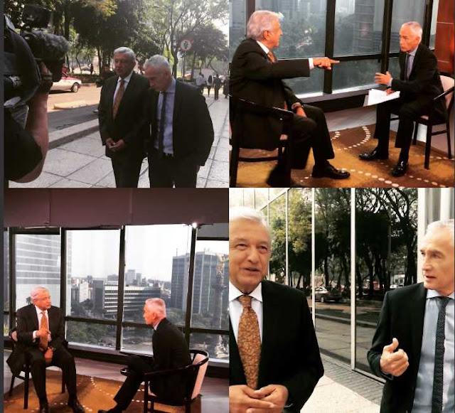 López Obrador con Jorge Ramos acusa a Peña Nieto de operar ataques en su contra