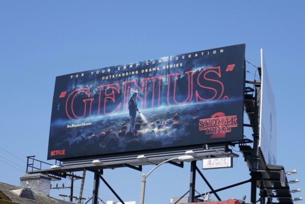 Stranger Things 2 Genius Emmy FYC billboard