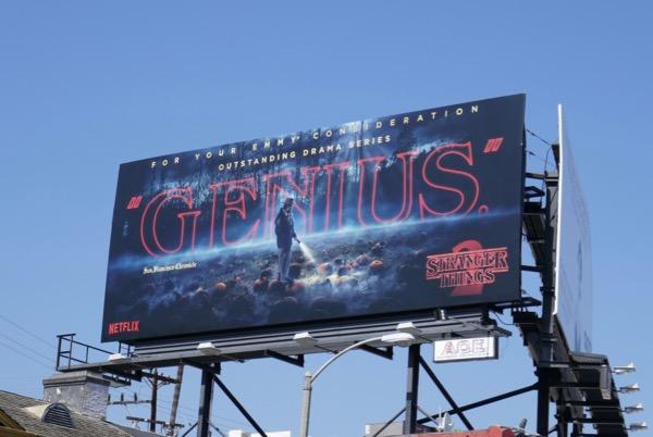 Stranger Things 2 Genius Emmy FYC billboard