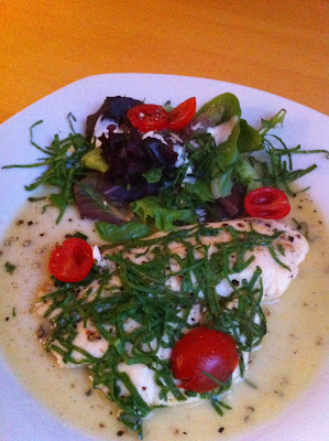 Poached Tilapia with Spinach and Tomatoes