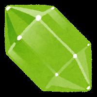 鉱石のイラスト(緑)