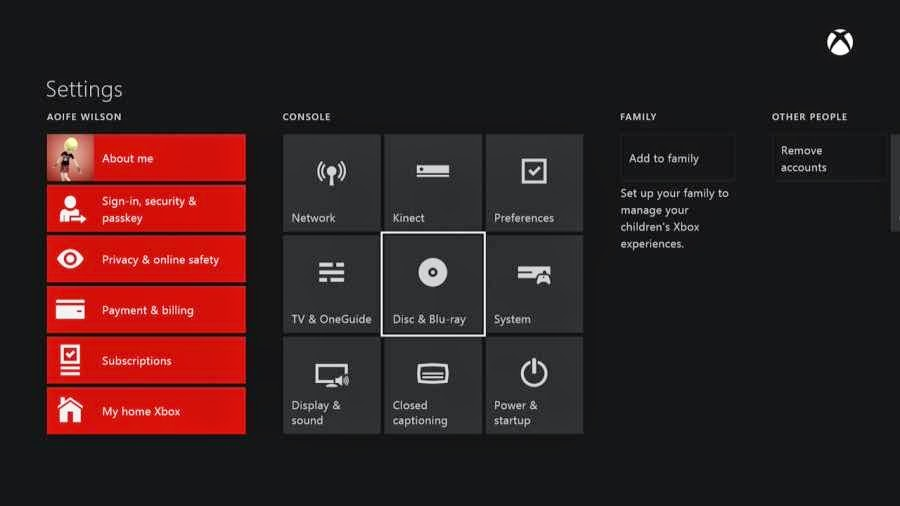 Image result for Disable auto disc play in XBOX ONE