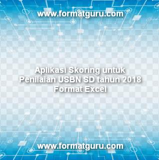 Aplikasi Skoring untuk Penilaian USBN SD tahun 2018 Format Excel
