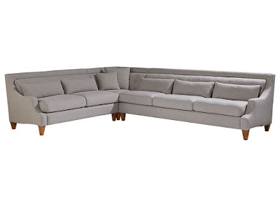 gray midcentury sectional sofa