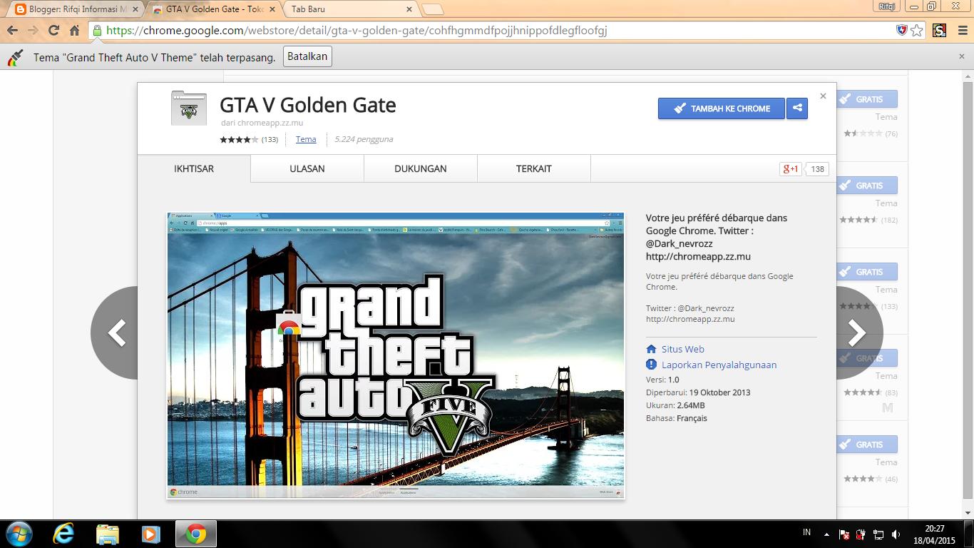 Google chrome theme gta v - Pict 2 Cara Mengganti Tampilan Google Chrome