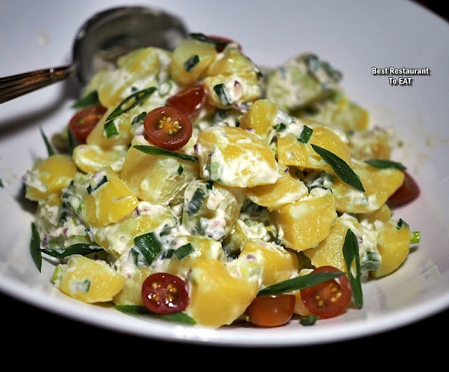 BBQ BUFFET Menu - Potato Salad with Eggs and Scallion