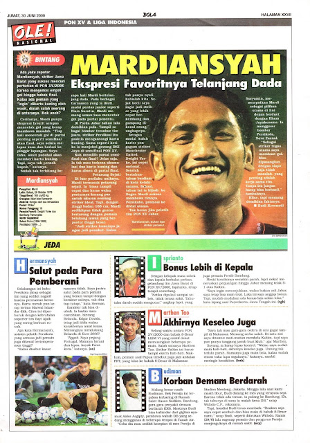 PON XV & LIGA INDONESIA PROFIL BINTANG MARDIANSYAH