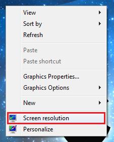 Ini adalah langkah pertama mengatur screen resolution