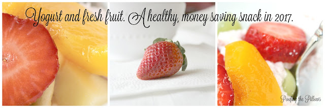 inexpensive fruit and yogurt snack, Greek yogurt and fruit, money saving ideas, Ten on the 10th
