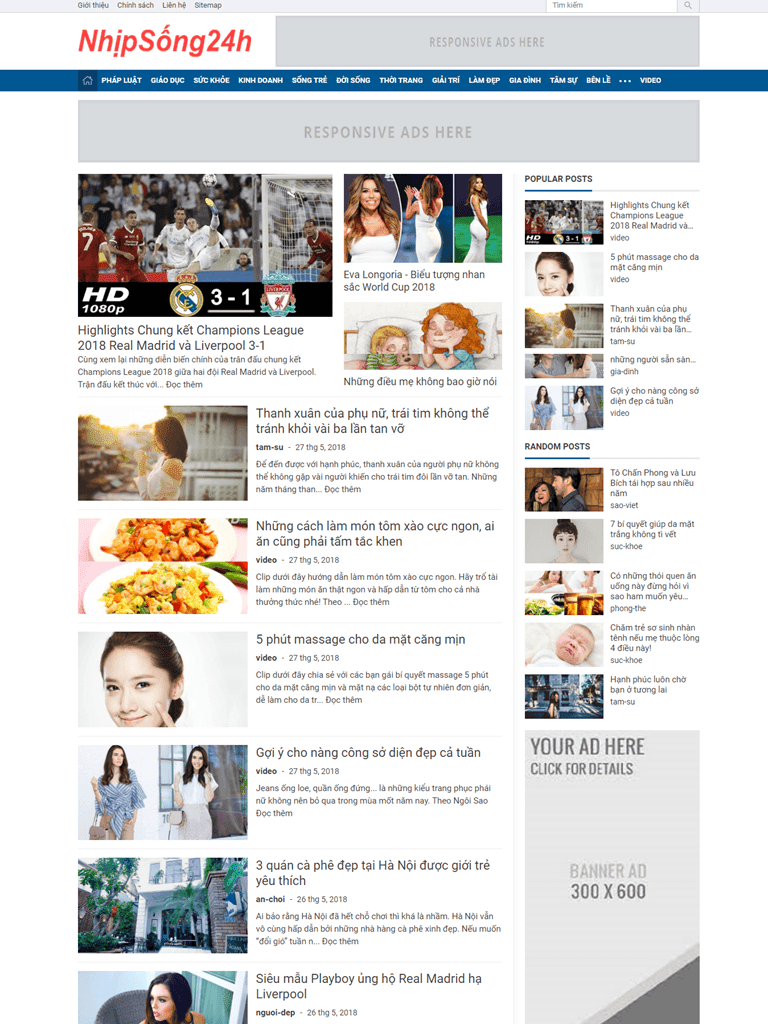 Giao diện tin tức mới News Magazine