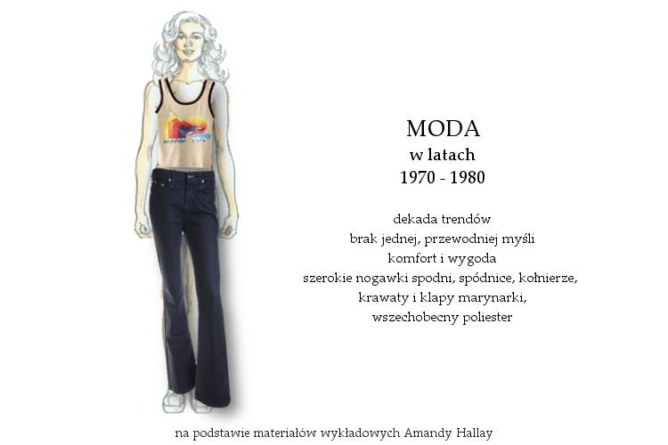 Agnieszka Sajdak-Nowicka moda w latach siedemdziesiątych 1970 - 1980 na podstawie materiałów wykładowych Amandy Hallay
