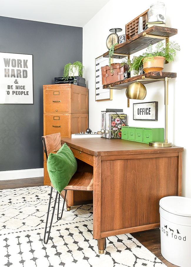vintage modern industrial office