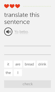 One of Duolingo's exercises