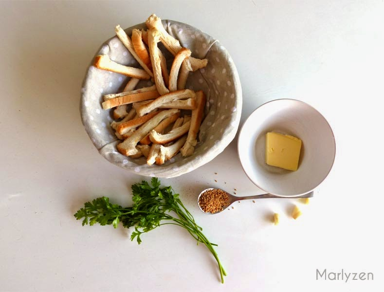 Ingrédients pour garlic bread