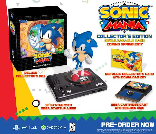 Confirmada la edición coleccionista de Sonic Mania