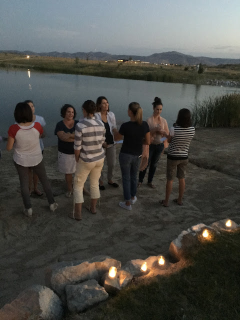 speed friendshipping game, Party by the lake, Relief Society activity